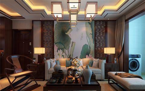 客厅照片墙中式风格装潢设计图片