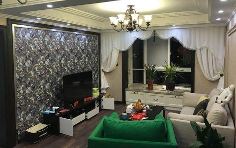 御珑湾110平混搭风格三居室装修效果图
