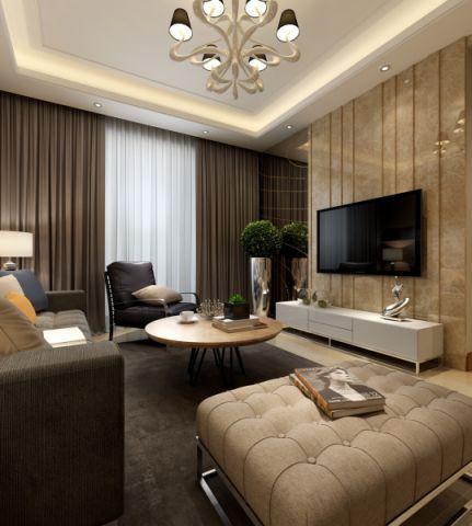 客厅吊顶后现代风格装修效果图