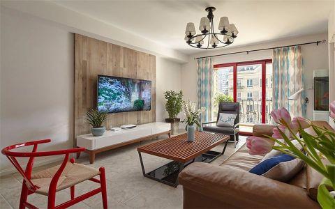 金湖天地95平米北欧风格三居室装修效果图