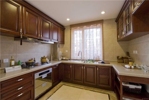 厨房橱柜中式风格效果图