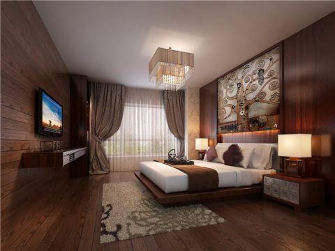 卧室照片墙中式风格装饰效果图