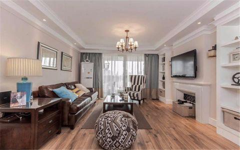 怡康新寓90平美式风格三居室装修效果图