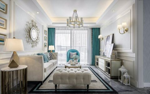 聚宝山庄120平现代简约风格三居室装修效果图