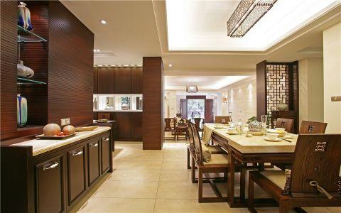 餐厅吧台中式风格装潢效果图