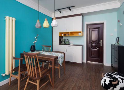 餐厅博古架北欧风格装潢设计图片