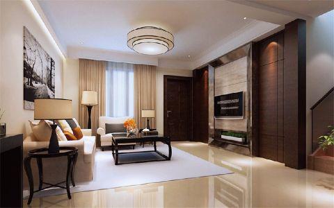 群升江山城120平现代简约风格三居室装修效果图