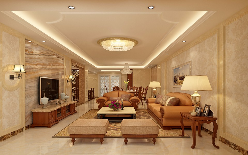 4室2卫2厅200平米简欧风格