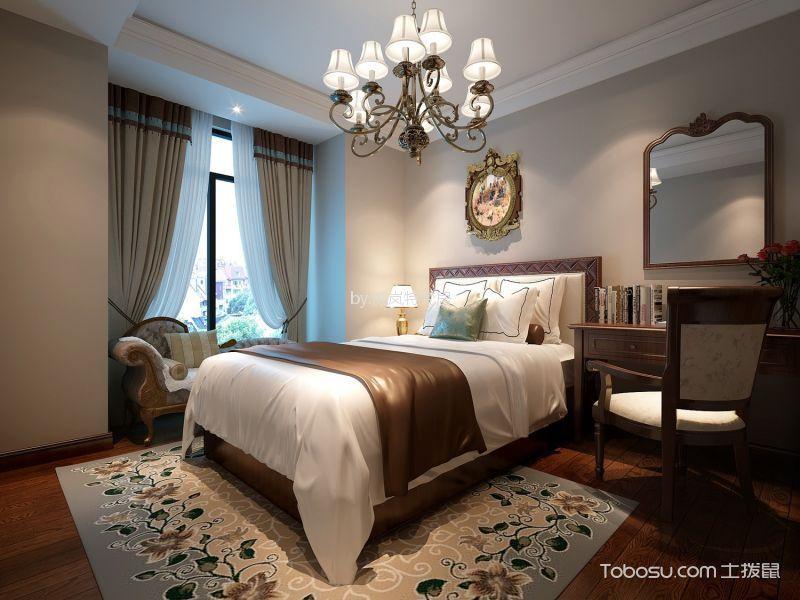 卧室咖啡色细节美式风格装饰图片