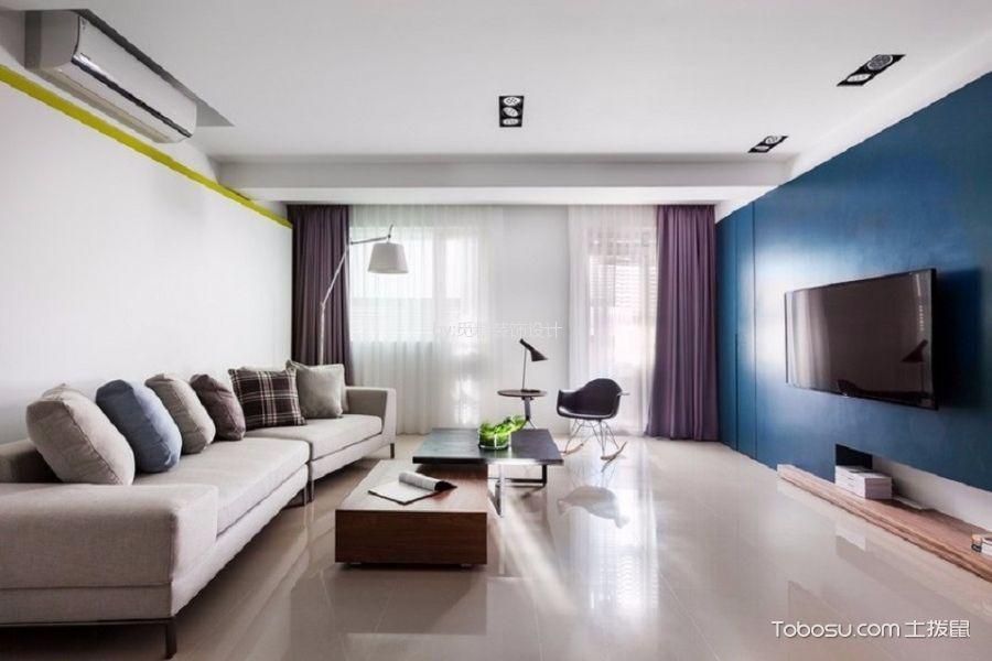 海伦堡海汇广场60平米现代简约一室一厅装修效果图