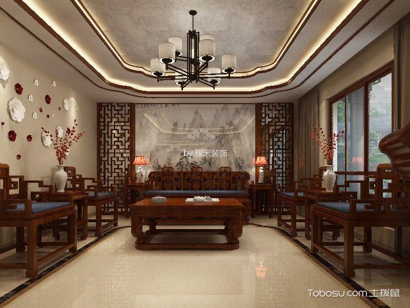 碧桂园九岛梦300平方中式风格装修效果图