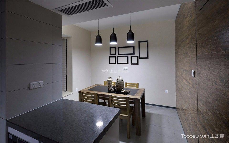 餐厅白色照片墙现代中式风格装修效果图