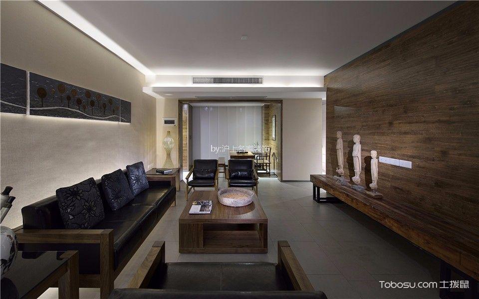 现代中式风格200平米大户型室内装修效果图