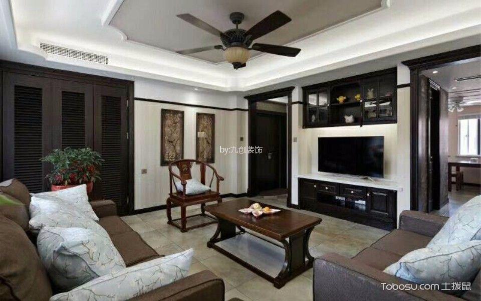 新力愉景湾109平米混搭风格三室两厅装修效果图
