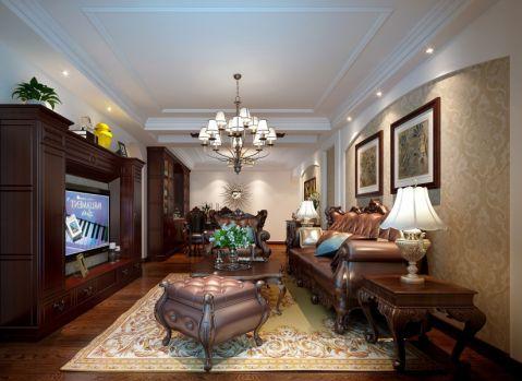 天福园148平美式风格三居室装修效果图