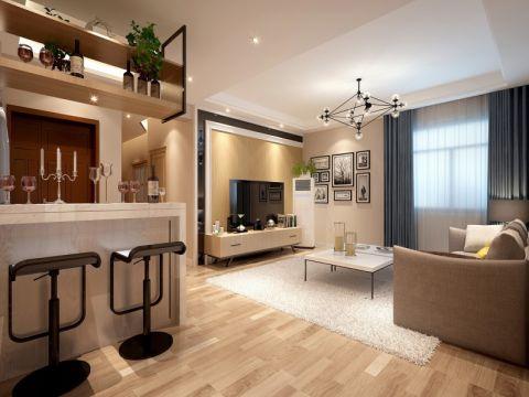 中华公寓110平现代风格四居室装修效果图