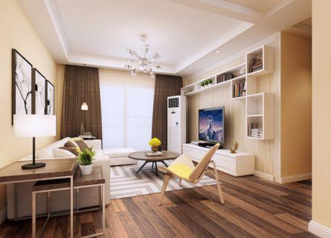 中天铭廷95平现代简约三居室装修效果图