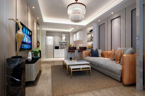 远洋国际公寓现代轻奢64平装修效果图