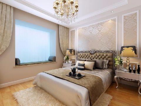 卧室飘窗简欧风格装修图片