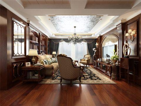西西里传说180平美式风格四居室装修效果图