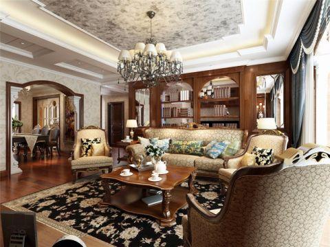客厅隔断美式风格装修图片