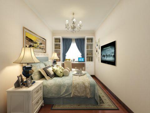 卧室吊顶简欧风格装潢效果图