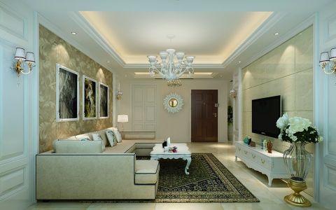 紫金华府114平欧式二居室装修效果图