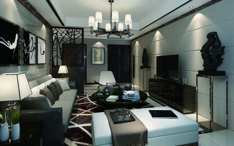 紫金华府后现代风格四居室装修效果图