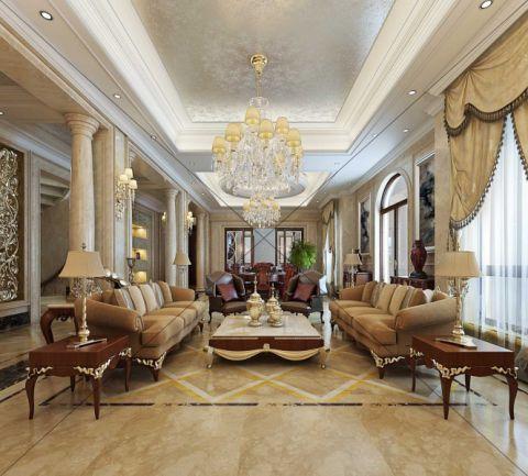 绿城玫瑰园800平方独栋别墅新古典装修效果图