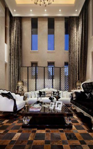 客厅榻榻米欧式风格装潢设计图片