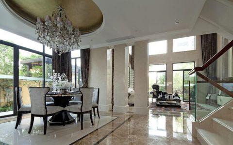 客厅楼梯欧式风格装饰效果图