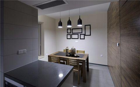 餐厅照片墙现代中式风格装修效果图