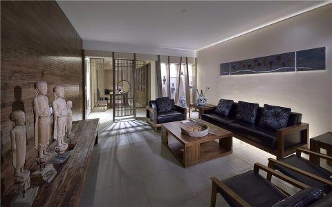 客厅茶几现代中式风格装修设计图片