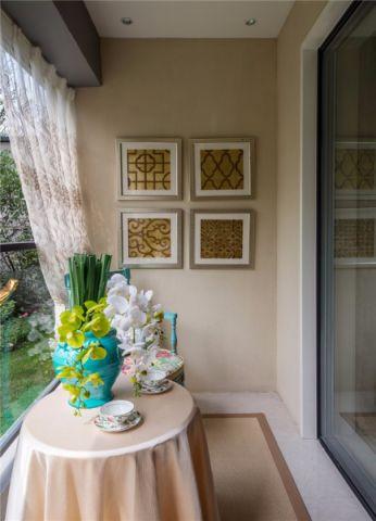 阳台照片墙法式风格装修图片