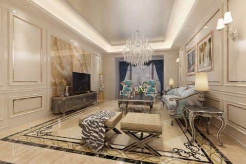 客厅吊顶简欧风格装饰图片