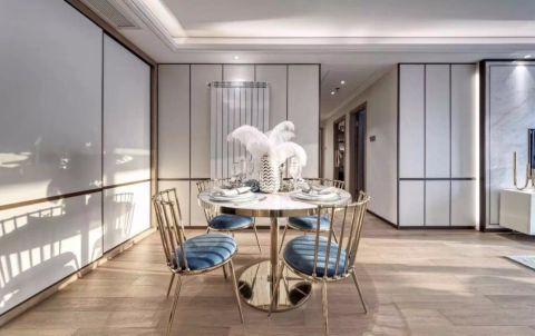餐厅蓝色细节简约风格装修设计图片