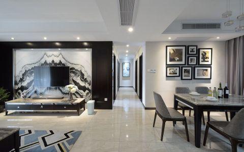 金地自在城135平现代简约风格四居室装修效果图