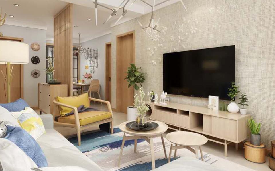 2室1卫1厅76.5平米北欧风格