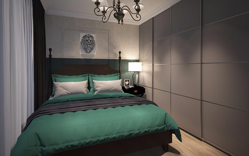 2室1卫1厅72平米美式风格