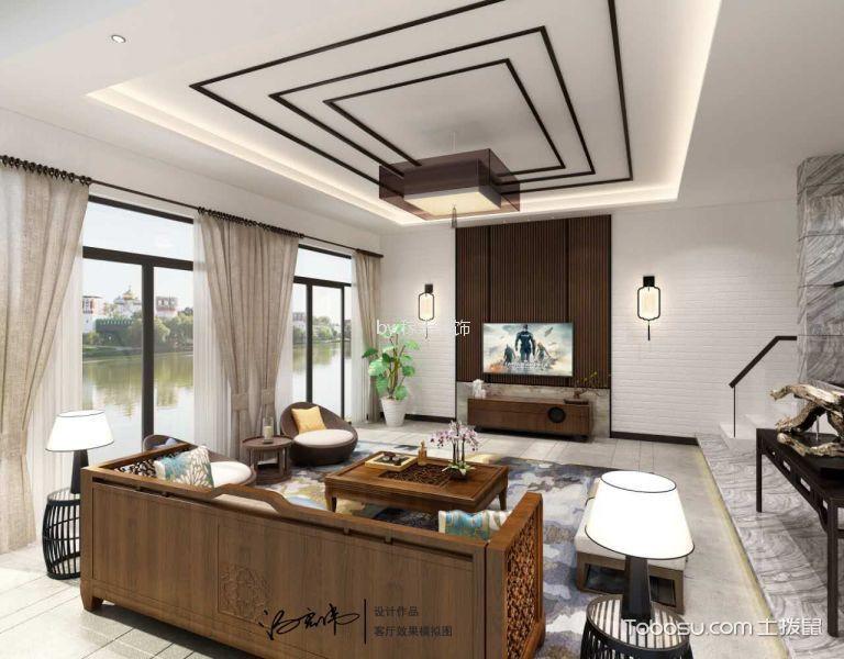 翠屏国际紫檀苑320m²东南亚风格装修效果图