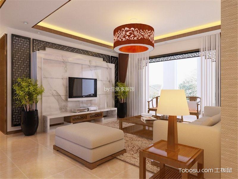 福晟钱隆城142平新中式风格三居室装修效果图