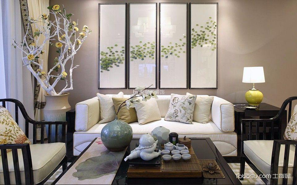 弘阳旭日上城 130平米现代简约风格三居室装修效果图
