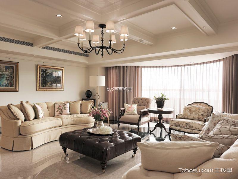 绿地香颂134平米美式复古3室2厅2卫装修效果图