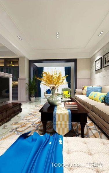 客厅米色细节混搭风格装饰图片