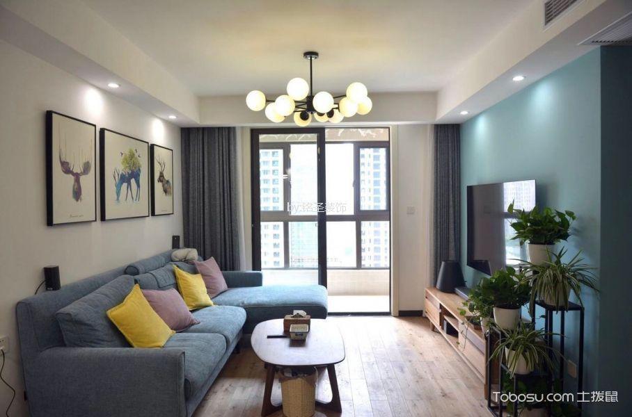 东方福邸80平北欧风格二居室公寓装修效果图