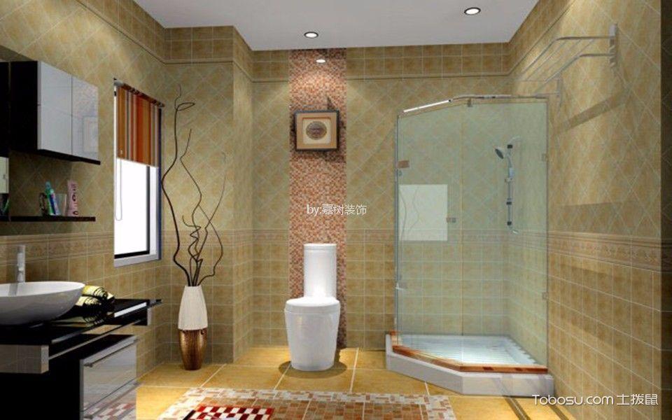 卫生间黄色细节混搭风格装潢图片