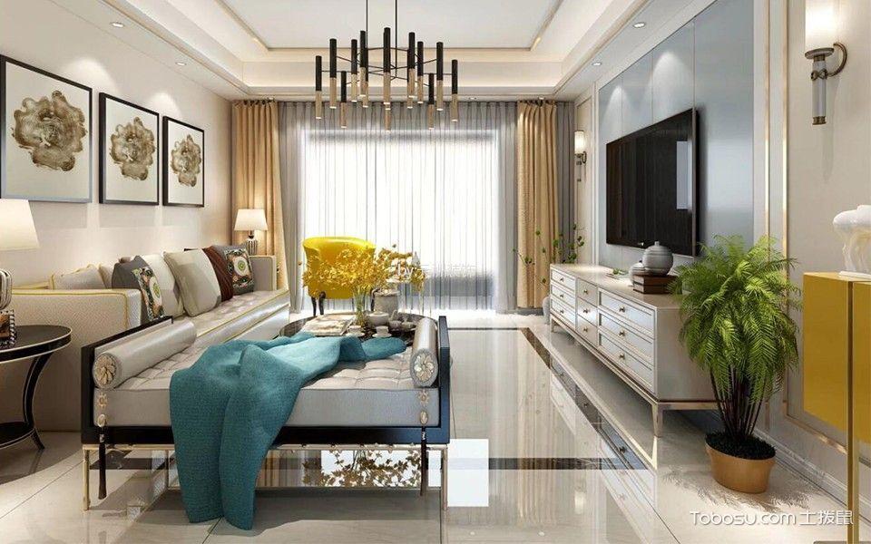 客厅彩色细节现代风格装潢效果图