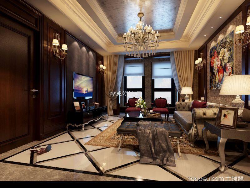 大华榴美颂128平新古典风格三居室装修效果图