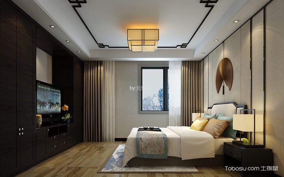 扬州华盛苑220平米新中式风格效果图