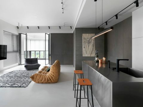 客厅背景墙现代风格装修设计图片